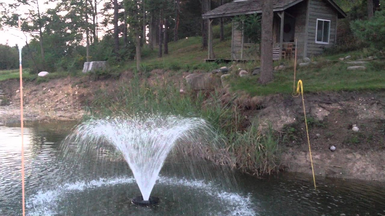 Pond Floating Water Fountain Youtube