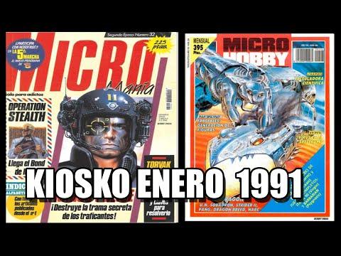 KIOSKO ENERO 1991 MICROMANIA Y MICROHOBBY