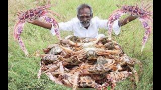 Yummy Pepper BIG CRAB Prepared by my DADDY Arumugam / Village food factory