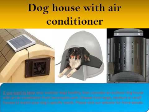 Dog house air conditioner and heater available at Securepets.com