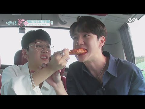 [JustBeJoyful JBJ] Unexpected scale of Taehyun&Donghan's eating show at the rest area Ep.2