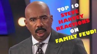 TOP 10 STEVE HARVEY REACTIONS ON FAMILY FEUD REACTION!