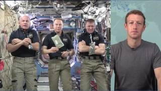 Facebook founder Mark Zuckerberg Chat with  Astronauts First Facebook Live in space