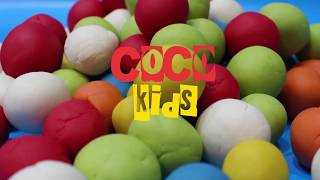 Choose color balls from balls mountain/learn colors for kids/Play dogh