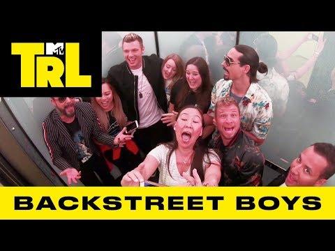 Backstreet Boys Surprise Fans w/ 'I Want It That Way' & 'As Long As You Love Me' Sing-A-Longs | TRL