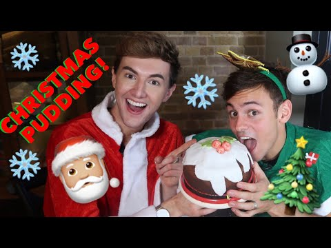 Making Chocolate Christmas Pudding with Mark Ferris | Tom Daley