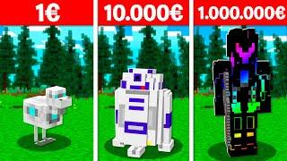 ROBOT À 1€ VS ROBOT À 1.000.000€ DANS MINECRAFT !