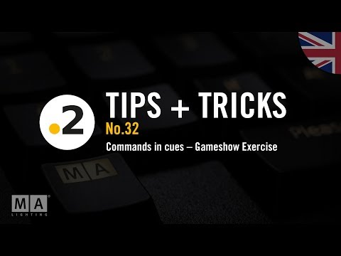 dot2 tips and tricks No. 32 – Commands in cues  – Gameshow Exercise