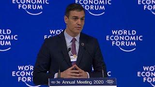 Sánchez defiende en Davos la «justicia fiscal» y propone más integración para Latinoamérica