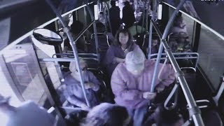 Video shows woman pushing elderly man from Las Vegas bus; he later died