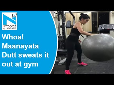 Maanayata Dutt sweats it out at gym, Sanjay Dutt's daughter Trishala responds