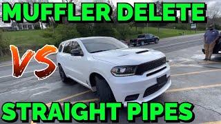 Dodge Durango R/T 5.7L HEMI: MUFFLER DELETE Vs STRAIGHT PIPES!
