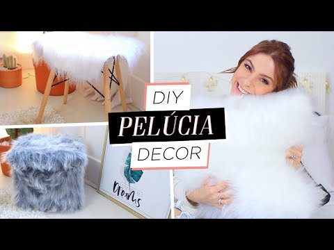 DIY :: Almofada, Puff e Pelego! Decore com Pelúcia!!! Tumblr/Pinterest Inpired
