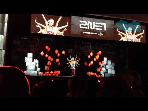 2NE1 Hologram Concert at KBEE 2013 London - Part 1 - 'Fire'