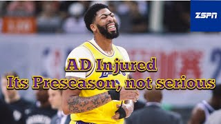 Anthony Davis Suffers Sprained Thumb in Lakers' Exhibition Loss to Nets in China 77-91