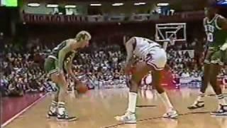 Jordan vs Bird - SHOOTOUT! Celtics @ Bulls 1986-87