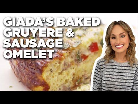 Giada De Laurentiis' Baked Gruyere and Sausage Omelet | Giada At Home | Food Network