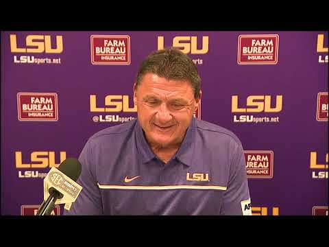 See what Ed Orgeron had to say about LSU's 'complete' game vs. Vanderbilt