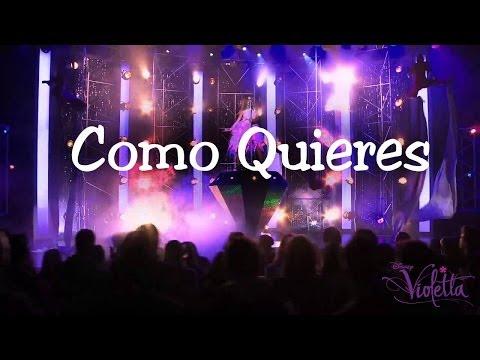 Baixar Violetta 2 - Como Quieres (Karaoke / Instrumental) Letra