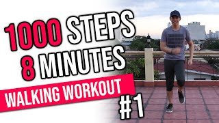 FUN 1000 Steps in 8 Minutes | Easy Home Workout | Keoni Tamayo