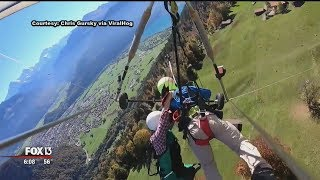 Florida man recalls now-viral terrifying hang-glider flight