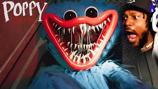 SCREAMING at a SCARY Toy Factory   Poppy Playtime (Chapter 1)
