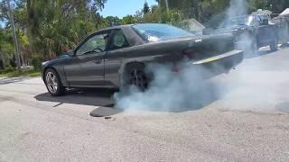 240sx ls swap burnout