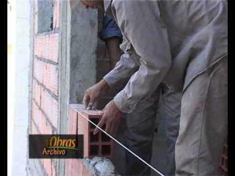 C mo hacer una pared de ladrillo perforado video n 7 - Ladrillo ceramico perforado ...