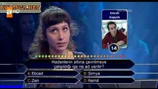 Kim milyoner olmak ister 202. bölüm Segah Beste Öner 08.04.2013