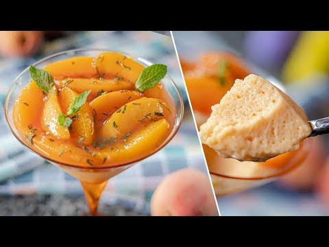 Нежный как облако ПЕРСИКОВЫЙ МУСС пудинг | сливочный десерт с персиками | простой рецепт