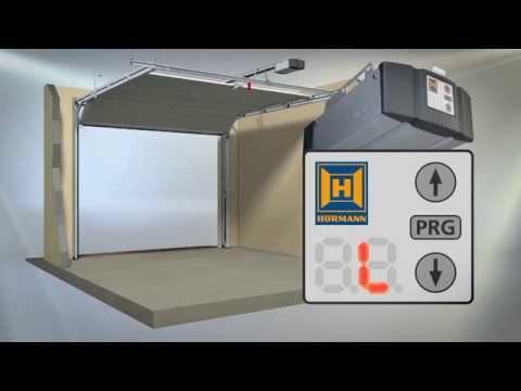 Hörmann installationsguide: Programmering av Supramatic E3 portmotor