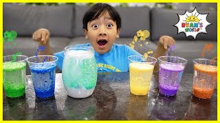 Easy DIY Science Experiment for Kids Rainbow Snowstorm in a Jar!!!
