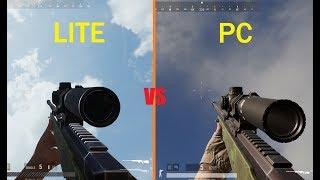 PUBG LITE VS PUBG PC - Weapon Comparison (Sound , Animation , Recoil )