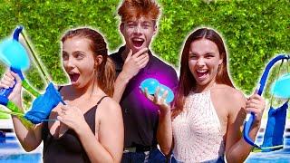 EXTREME WATER BALLOON CHALLENGE | Brent's Backyard Battles - Lexi Hensler VS Pierson Wodzynski