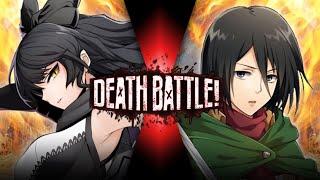 Fan Made Death Battle Trailer: Blake VS Mikasa (RWBY VS Attack On Titan)