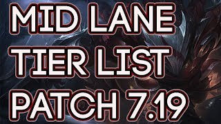 Mid Lane Tier List Patch 7.19   Best Mid Laners To Carry Solo Queue Patch 7.19
