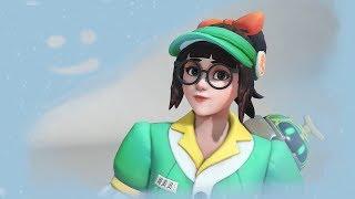 Overwatch - Honeydew Mei Skin - Gameplay, Highlight Intros, Emotes & More