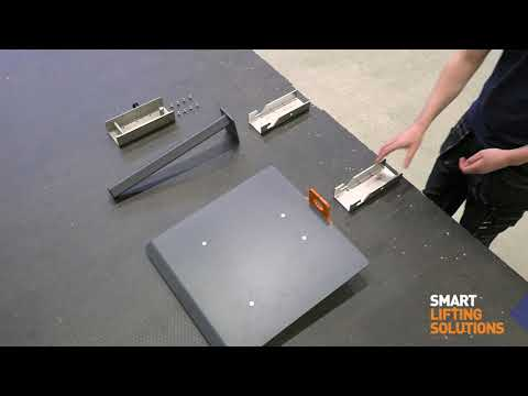Quick release bracket for work positioners – how to use it on EdmoLift work positioners!