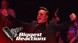 The Biggest Singer and Coach Reactions!   The Voice UK 2018