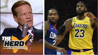 THE HERD   Ric Bucher react to Lakers def Clippers 103-101; LeBron/AD: 50 Pts, Kawhi/PG: 58 Pts