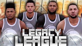 NBA 2K16 Legacy League #1 - NEW SERIES!! Shawn Harris Joins StepDaddyJ, Adrian & Andre!