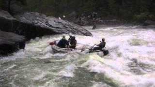 Rafting con aguas bravas