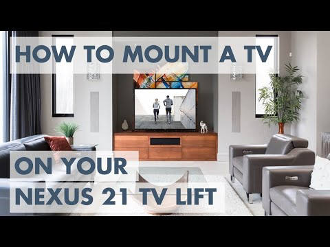 How to Mount a TV on your Nexus 21 TV Lift - 3 Easy Steps