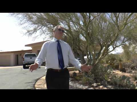Brother Branhams House in Tucson AZ - Brother Johnny Greene Gives Talk Outside of House