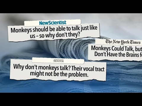 Monkeys have vocal tracts capable of human speech