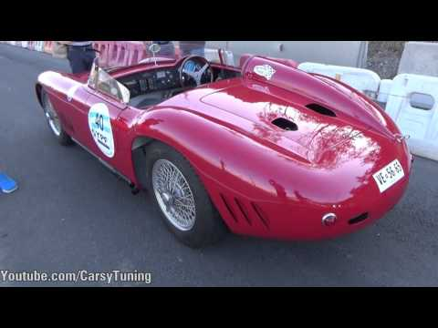 1955 Maserati 300S - Fly By, Engine Bay, Start and Leave