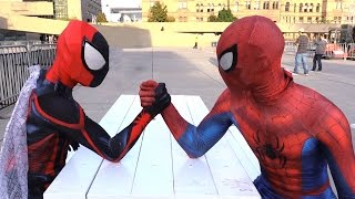 SPIDER-MAN Training for Spider-Verse Movie - Superheroes in Real Life