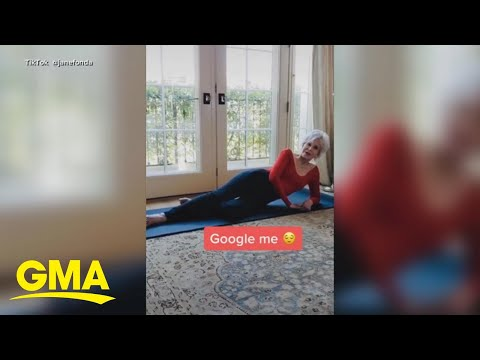 Jane Fonda joins TikTok, revives 'The Jane Fonda Workout' | GMA