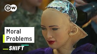 This Robot would kill 5 People | AI on Moral Questions | Sophia answers the Trolley Problem