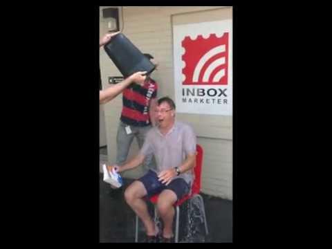Inbox Marketer's President, Geoff Linton, completes the ALS Ice Bucket Challenge